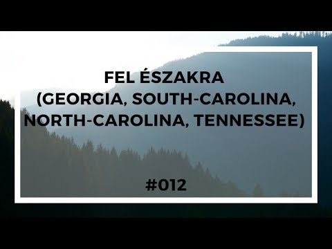 Fel Északra  (Georgia, South-Carolina,  North-Carolina, Tennessee) - #012