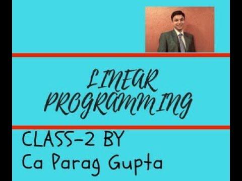 Linear Programming (LPP)-2nd Class-Hindi Version