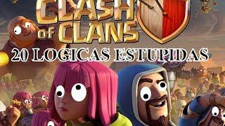 20 logicas estupidas de clash of clans 20 stupid logics of clash of clans subtitled in english