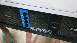 Cek RMS power SPL AUDIO type Fp18000TT