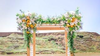 Time Lapse - River Wedding Arch Florals
