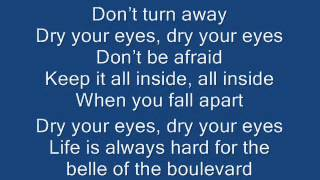 Belle of the Boulevard - Dashboard Confessional Lyrics