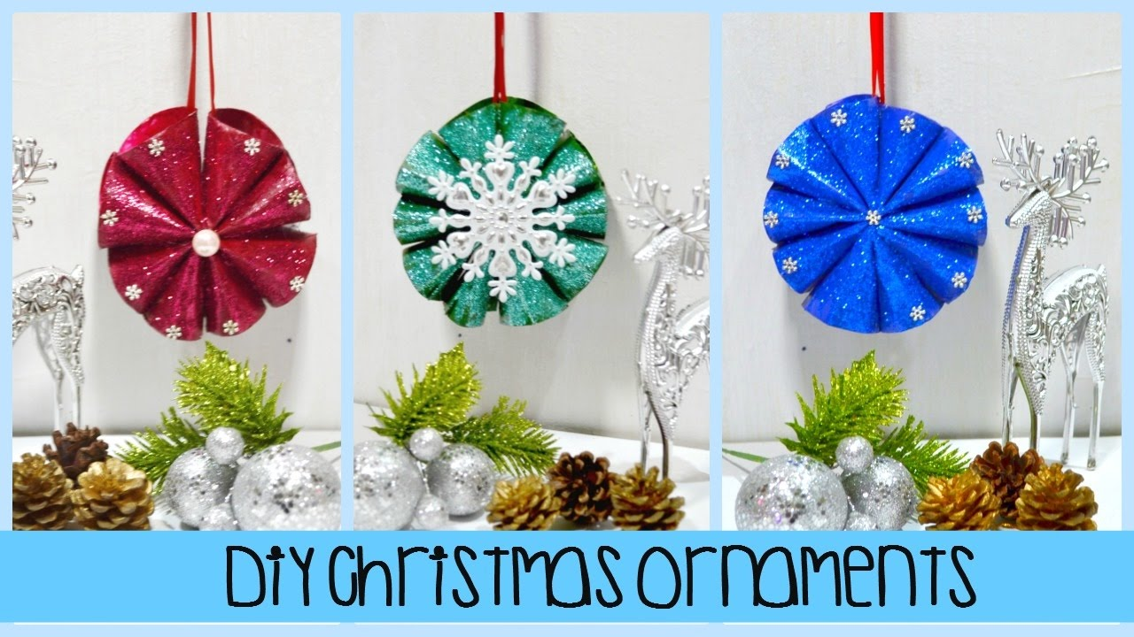 diy christmas glittered ornaments made out of tissue paper roll