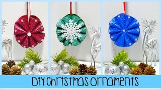 DIY Christmas Glittered Ornaments Made Out of Tissue Paper Roll - DIY Christmas Ornament