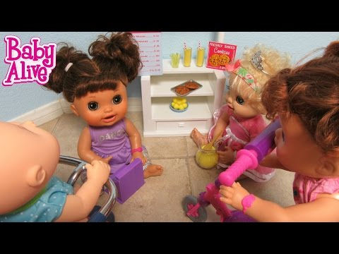 BABY ALIVE Real Surprises Doll Kara and her best friend Lacey's Lemonade Stand!