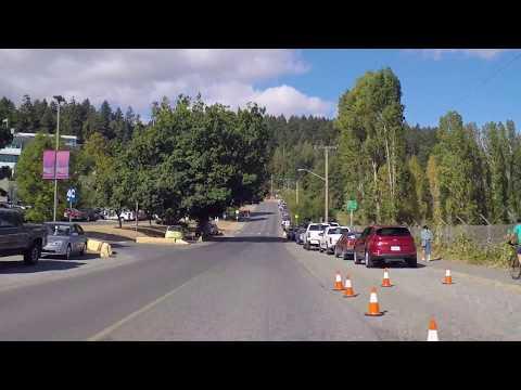 Vancouver Island University - Driving into Campus - Nanaimo BC Canada - Malaspina