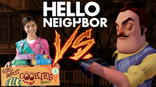 Realistic Minecraft: Hello Neighbor vs GIRL SCOUT!