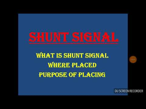 What Is Shunt Signal? Where It Is Placed ? Indian Railways