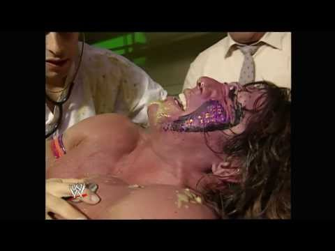 Ultimate Warrior vomits after Papa Shango puts a curse on him