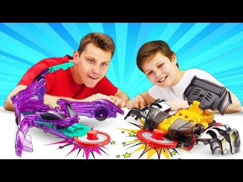 Дикие Скритчеры и крутой видео Челлендж! Игры для мальчиков с машинами трансформерами.