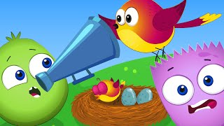 Op and Bob Cartoon   Loud or Quiet Smile and Learn   Educational Cartoon For Kids