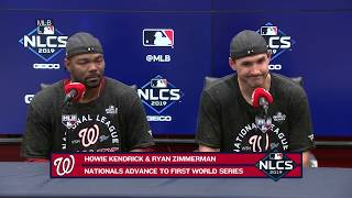 Howie Kendrick and Ryan Zimmerman after Nats' NLCS Game 4 win