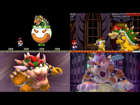 Evolution of Bowser Battles in Mario games