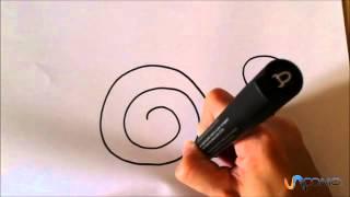 Dibujar un caracol animado - Draw a snail animated
