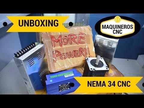 Unboxing Nema 34 con Encoder + alimentación CNC