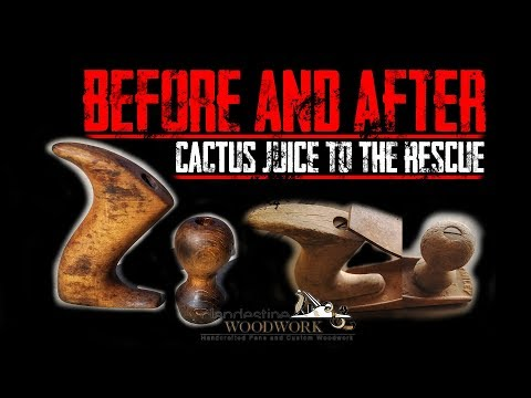 Using Cactus Juice to fix the wood on a vintage Stanley No 40 scrub plane