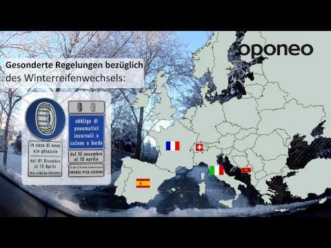 Winterreifen In Europa ● Ratgeber Oponeo™
