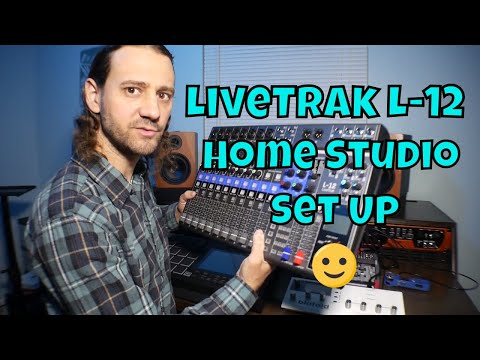 Zoom LiveTrak L-12 Home Studio Set Up