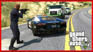 PRETENDING TO BE A COP AND HIJACKING MONEY TRANSPORT! (GTA 5 Mods)