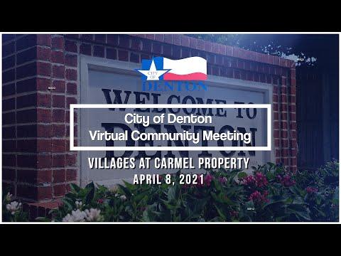 Virtual Community Meeting | Villages of Carmel Park, April 8
