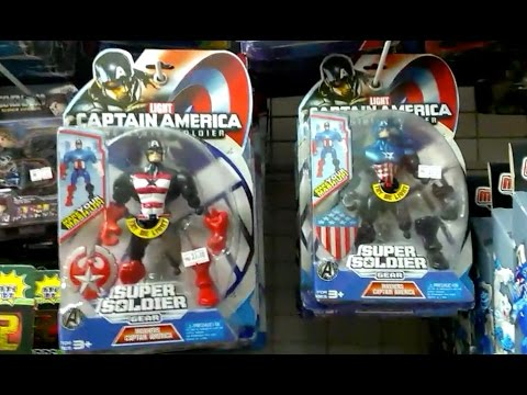 Captain America - Iron Man & teenage mutant ninja turtles - Low Quality Toys