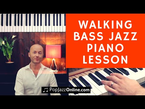How to Play Walking Bass Lines 🎹😃 │ Jazz Piano Lesson │Left Hand Lines for Any Chord  Progressions