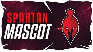 Spartan Mascot Logo Speedart | Adobe Illustrator CC