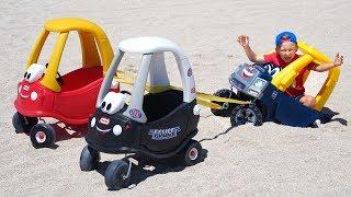 سينيا ولعبة ممتعة من الغميضة مع السيارات!