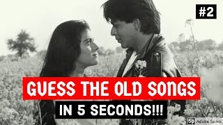 Guess The Old Songs in 5 SECONDS CHALLENGE #2 | Hindi/Bollywood Old Songs Hit Collection Video HD!