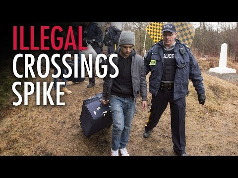 Illegal immigration wave crashes into Canada