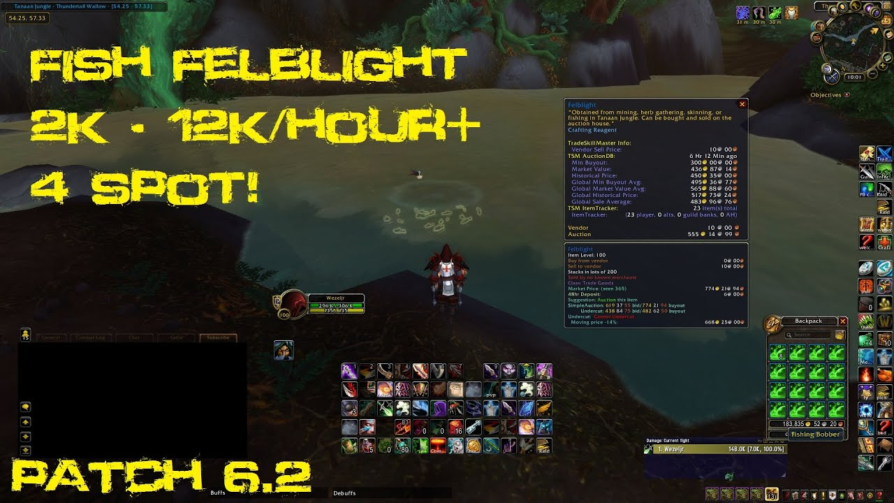 Wow gold guide felblight farming fishing youtube for Wow fishing guide