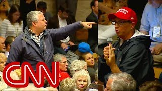 Town hall gets heated when Amash calls on Trump supporter