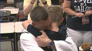 MUST SEE: Sailor returns home, surprises son at Conover elementary school