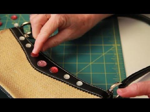 Decorating Handbags With Glue On Jewels Handbag Design Youtube