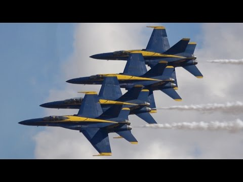 Blue Angels Low Show .. California Capital Airshow 2016 (4K)