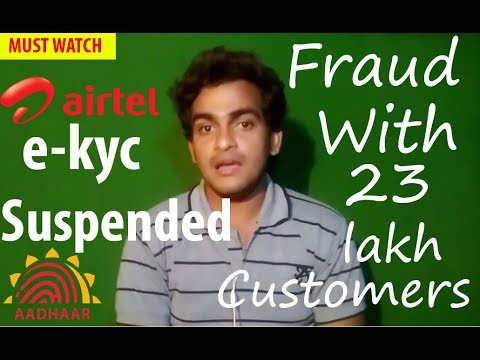 Airtel users Becareful ! Airtel e-kyc service Suspended ! Fraud with 23 Lakh Customer! MUST WATCH
