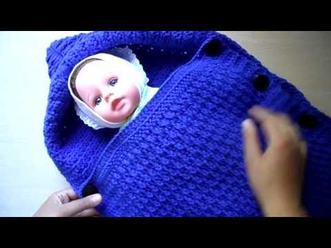 Спальный мешок для новорожденного крючком