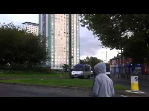 Police Retreat Salford Riot