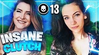INSANE 13 KILL CLUTCH! w/ Alexia Raye (Fortnite: Battle Royale) | KittyPlays