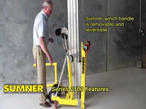 How To Use The Sumner Contractor Lift 2100, 2118, 2124