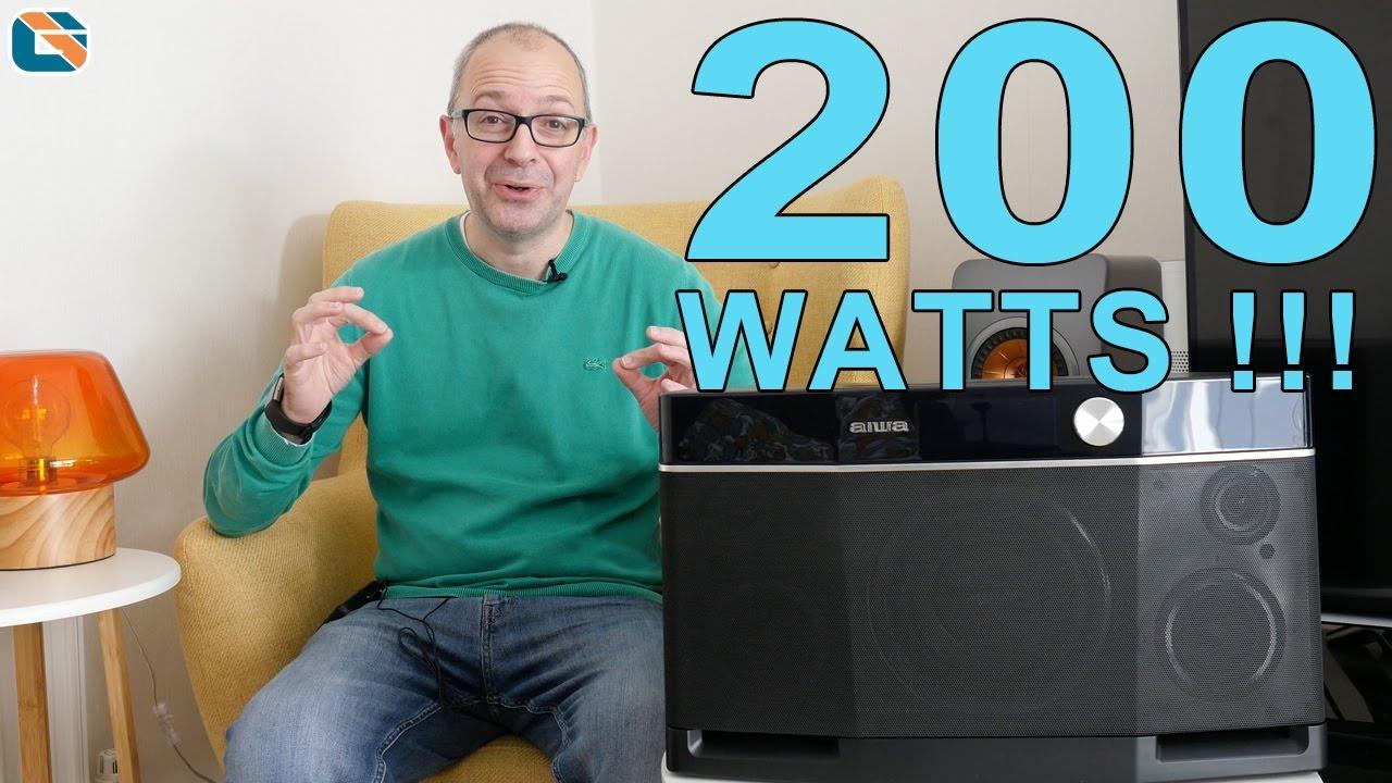 Aiwa EXOS-9 AMAZINGLY LOUD 9 Watt Bluetooth Speaker #TalkingTech