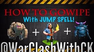 Clash of Clans how to gowipe with jump spell