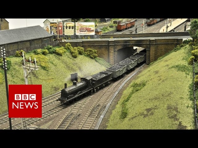 Model Railway Took Train Enthusiasts Five Years To Build Bbc News Youtube