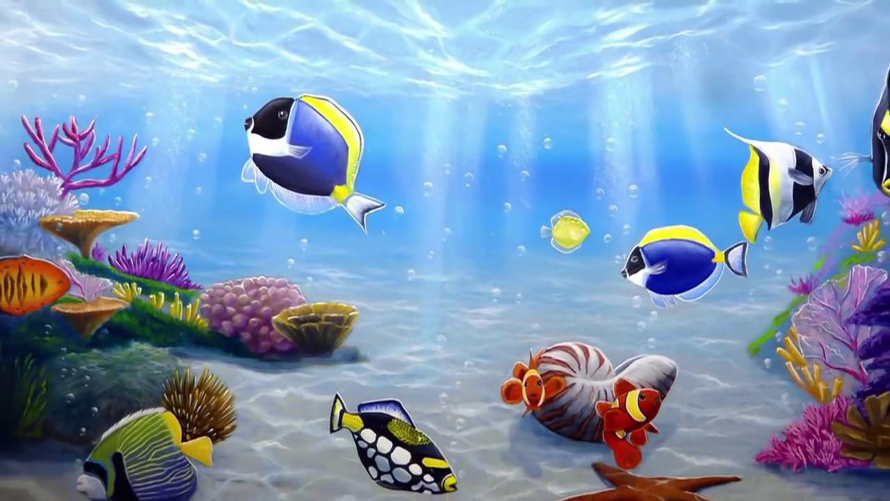 Dipingere un acquario dagli inizi al finale in parete for Pesci da disegnare per bambini