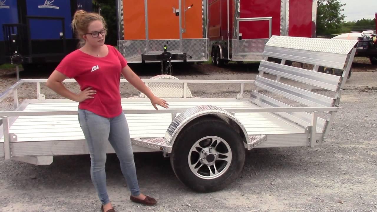 6 4 X 10 Aluminum Flatbed 3500 Lb Axle Utility Trailer