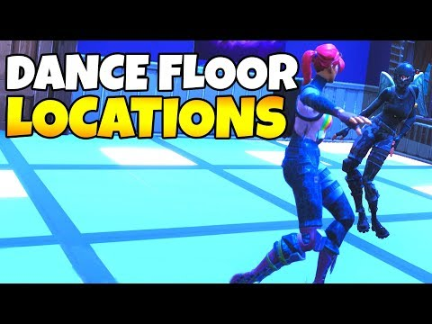 ALL DANCE FLOOR LOCATIONS IN FORTNITE (Week 8 Challenge)