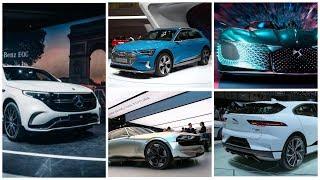 Top 5 electro cars 2019 review Mercedes EQC, Audi E tron, DS E tense, Jaguar EV, Peugeot E Legend смотреть