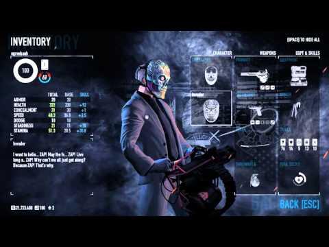 Как и куда кидать мет чтобы получить маску  nvader Skill Shot achievement Payday 2