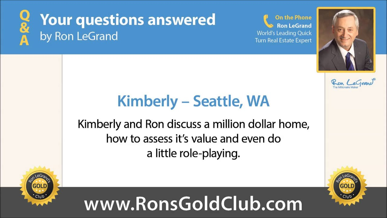 Ron S Gold Club Q A Kimberly From Seattle