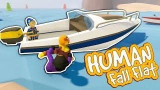 Drei MEISTERDIEBE klauen ein Boot | Human Fall Flat